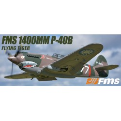 FMS 1400MM P-40B FLYING TIGER SUPER SCALE ARTF WARBIRD W/O TX/RX/BATT