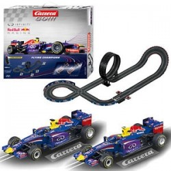 Carerra Slot Cars Flying Champions Red Bull X 2 4.9M Slot Car Racing set
