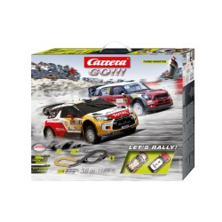 Carrera Go!!! Let's Rally Set - 1:43 scale. Slot Car Set