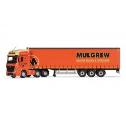 1/50 Die-Cast Mercedes-Benz Actros (Mp4), Curtainside Trailer, Mulgrew Haulage DIS