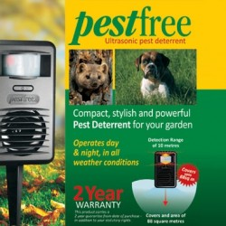 Pestfree - The Ultrasonic Pest Management System That Will Keep Your Garden Clear