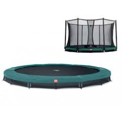 Berg Favorit Inground 14 Foot Trampoline With Safety Net Comfort