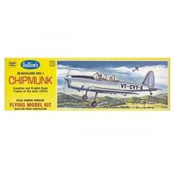 Chipmunk Balsa Guillows Flyer 1/24 Guillow Balsa Flying kit . Rubber Band Model.