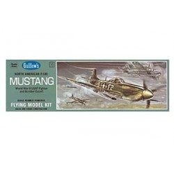 Mustang 1/25 Kit Guillow Balsa Flying kit . Rubber Band Model.