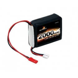 7.4V 2000Mah 2S 5C Lipo Receiver Pack For 1/8Th Cars
