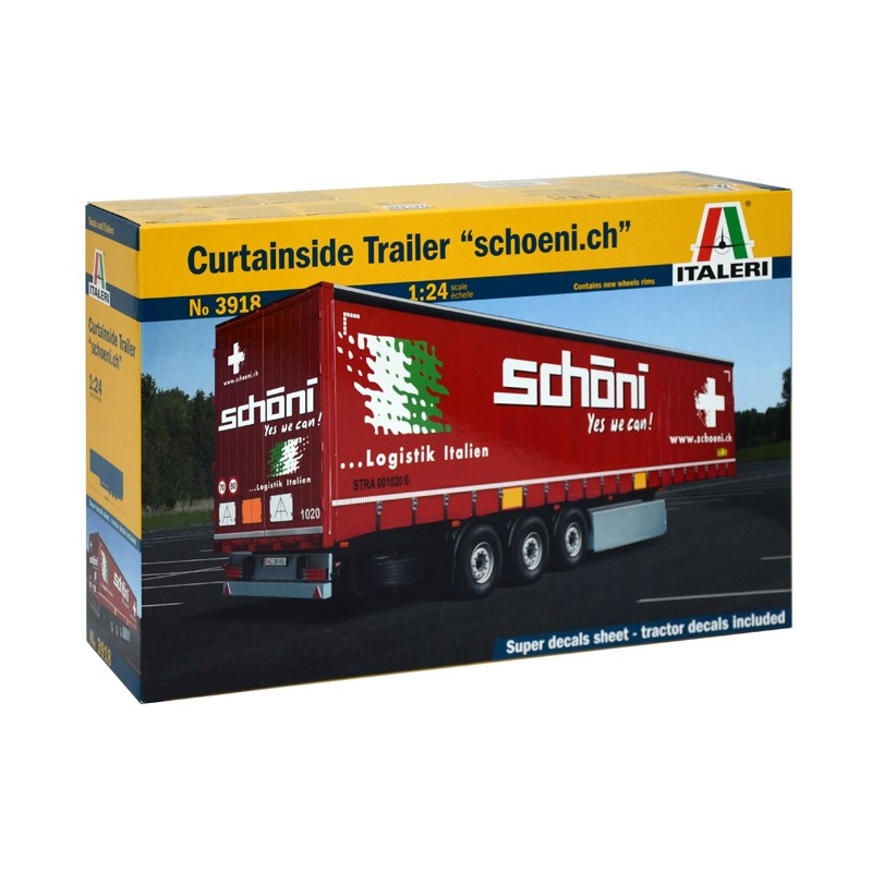 Curtainside Trailer Schoeni.Ch 1 24 Kit IT3918 New