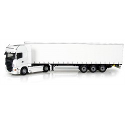 UH5710 Scania R730 And Krone Profi Liner Trailer (White) Trucks Model-Scale - 1/50