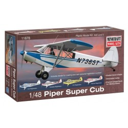 Piper Super Cub Minicraft Model Kit 1/48