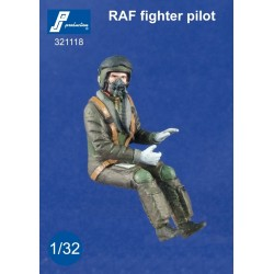 Raf Fighter Pilot Seated In A/C (Modern) 1/32 Resin .Needs Assembly & Painting.