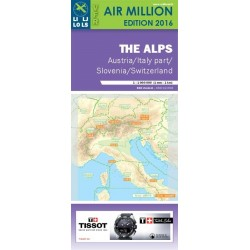 The Alps/ Vfr Chart Switzerland-Austria-Slovenia-North Italy Air Million 2016