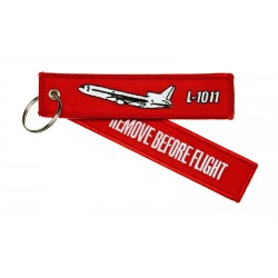 Key Ring With `Remove Before Flight ` On One Side And `L-1011' And Silhouette On Other Side - 13X3Cm