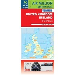 United Kingdom, Ireland And Benelux/ Vfr Chart Uk, Ireland And Benelux Air Million 2016 (Includes Netherlands Airspace)
