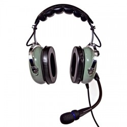 Nicepower Pilot An-1000Ac Active Noise Cancelling General Aviation Headset (Green)