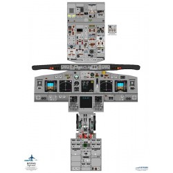 Poster Training Boeing 737Ng Wall Cockpit Poster Size 75 Cm Tall By 52 Cm Wide