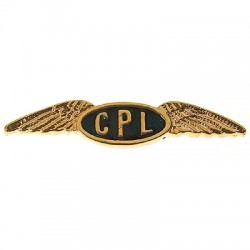 Pilot Commercial Pilot Insignia Pin C.30Mm