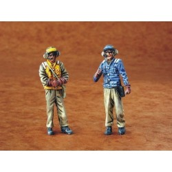 Us Navy Mechanics Modern (2 Figures) 1/48 Kit