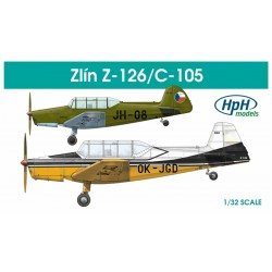 HPH Zlin Z126 Trener 1/32 Scale Resin Kit