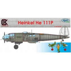 Heinkel He 111P 1/32 Scale Resin Kit Sectioned Aircraft.
