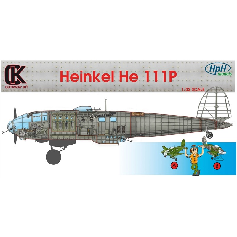 HPH Heinkel He 111P 1 32 Scale Resin Kit Sectioned Aircraft. Conversion Kit.  Re
