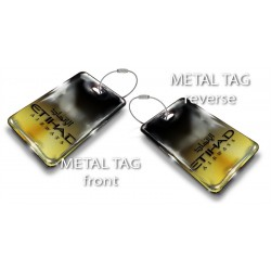 Single Etihad Black-Gold Bag Tag