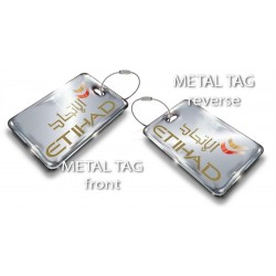 Single Etihad Silver Bag Tag