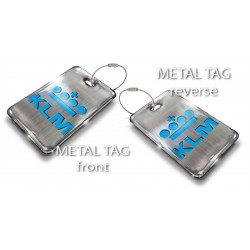 Single Klm Logo-Silver Bag Tag