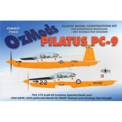 Pilatus Pc9 (Us Army Test And Raaf Trainers) 1/72 Resin Kit Ozmods
