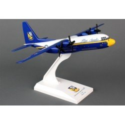 C130 Hercules (Us Navy Blue Angels) Desktop Model Skymarks 1/150 Scale Prebuilt