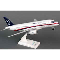Sukhoi Superjet 100 (Demo Colors) Desktop Model Skymarks 1/100 Scale Snap-Fit Model