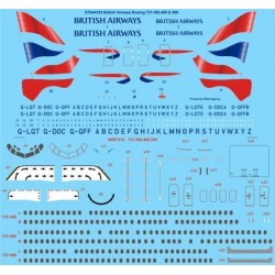 Boeing 737-300/400/500 (British Airways Union Jack) Two Six Decals 1/144