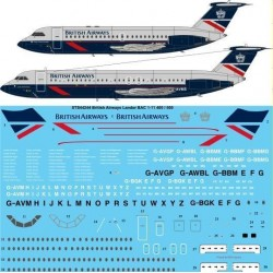 Bac1-11-400/500 (British Airways - Landor) Two Six Decals 1/144