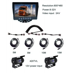 Kit Agri Trailer Bundle Deal. 7Inch Dash Commericial Grade Monitor + 2 Box Camera + Cable