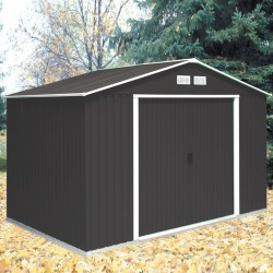 Colossus Springdale 10X10 Metal Apex Shed Anthracite Grey