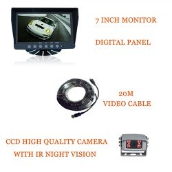 Kit Tractor Bundle Deal. 7Inch Dash Commericial Grade Monitor + Box Camera + Cable