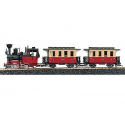 LGB Large Garden Passenger Train Locomotive Starter Set Sound Brass Tracks