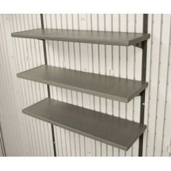 3 Piece 30 In. Shelf Storage Shed Accessory Kit