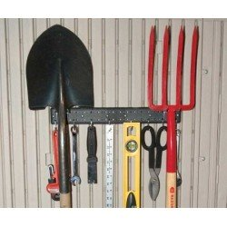 16 In. Accessory Peg Strips With 10 Tool Hooks -- 2 Strip Pack