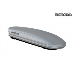 Menabo Mania Roof Box 580 Litre Abs Gloss Silver