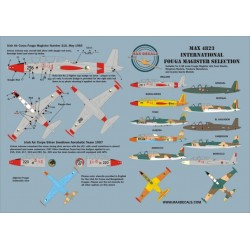 Max4823 International Fouga Magister Selection 1/48 Scale Decal Sheet Instructions