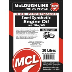 Xl Syntec 10W40 Semi Synthetic Engine Oil 20 Litre Drum