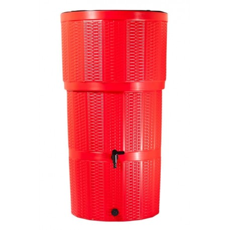 Water Butt/ 150 Litre Rattan Red