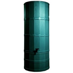Water Butt/ 220 Litre Green Including Base And Rainwater Diverter