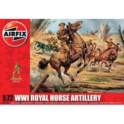 Wwi Royal Horse Artillery 1/72 Dis Kit Airfix A01731
