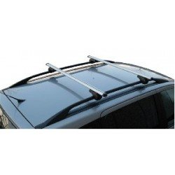 Menabo Roof Brio Bars 1.2 Mtr Wide (Locking) For Cars With Raised Roof Rails.
