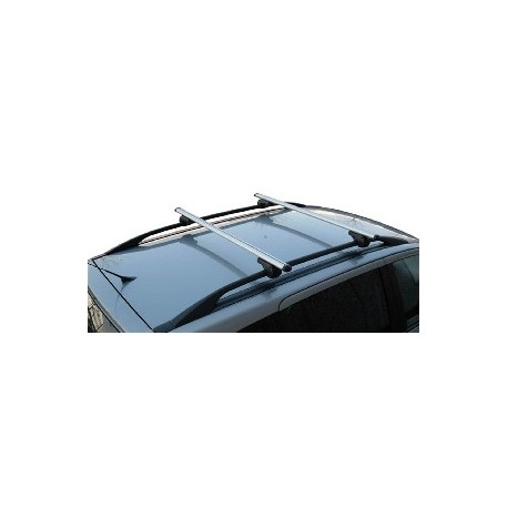 Menabo Brio Roof Bars 1.350 Mtr Wide (Locking) For Cars With Raised Roof Rails.