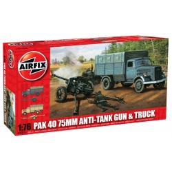 A02315 Pak 40 Anti-Tank Gun And Truck 1/76 Dis Kit Airfix A02315