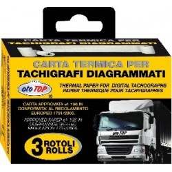 Truck Tachograph Electronic Thermal Paper Rolls X3