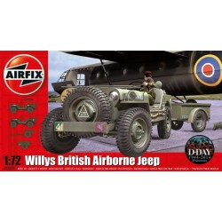 A02339 Willys Jeep Trailer And Howitzer 1/72 Kit Airfix A02339