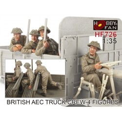 British Aec Truck Crew (4 Figures) 1/35.Needs Assembly & Painting.