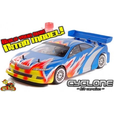 Rc Cyclone Self Build Nitro Rc Car Kit 2.4Ghz Everything in the Box to Get Running! 1/10 Scale